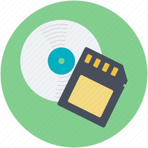cd, disc, memory card, sd card, storage devices icon