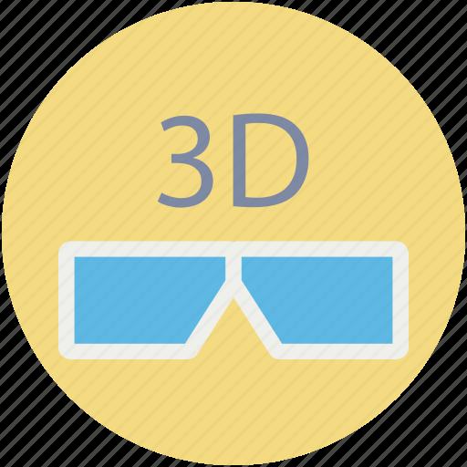 3d glasses, eyewear, glasses, stereo glasses, stereoscopic glasses icon