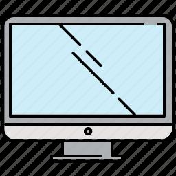 computer, multimedia, screen, television icon