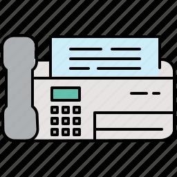 communication, fax, machine, multimedia, office, phone icon