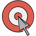 bullseye, multimedia, pointer, target icon