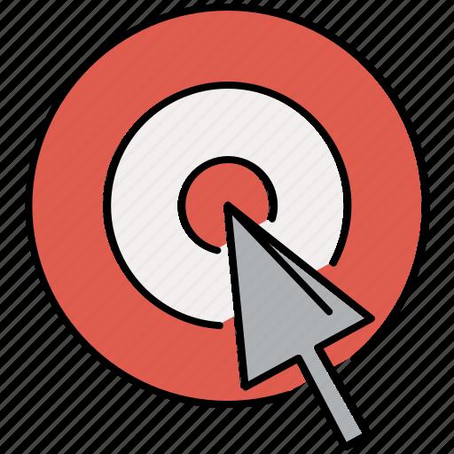 bullseye, multimedia, pointer, target icon
