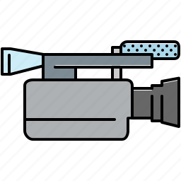 camera, movie, multimedia, record, video icon