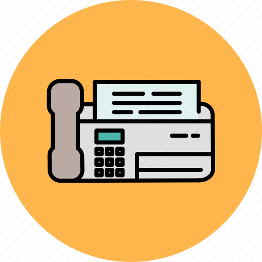communication, fax, machine, multimedia, office, phone icon