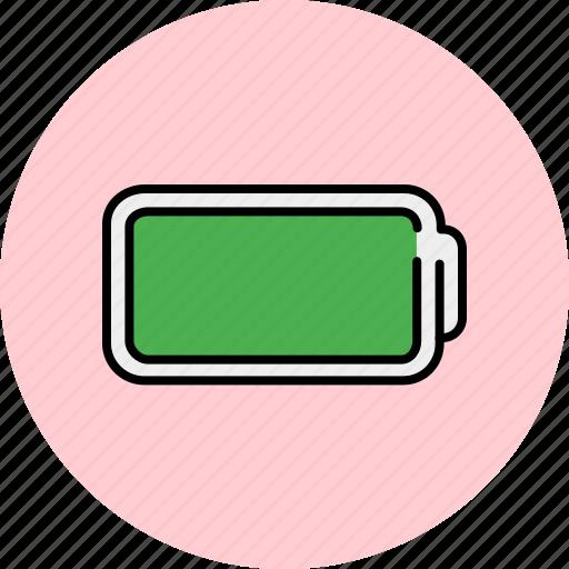 battery, full, multimedia icon