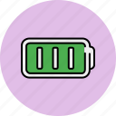 battery, full, lines, multimedia icon