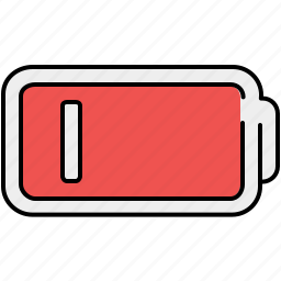 battery, line, low, multimedia icon