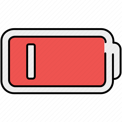 Battery, line, low, multimedia icon - Download on Iconfinder