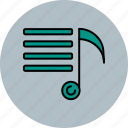 lines, multimedia, music, note icon