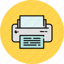 device, multimedia, paper, printer icon