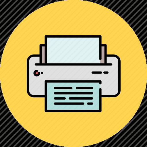 device, multimedia, paper, printer icon