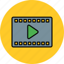 movie, multimedia, video, watch icon
