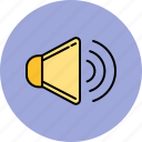 high, multimedia, sound, volume icon