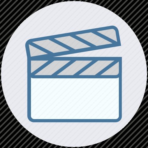 cinema, clapboard, director, film, movie, multimedia, shooting icon