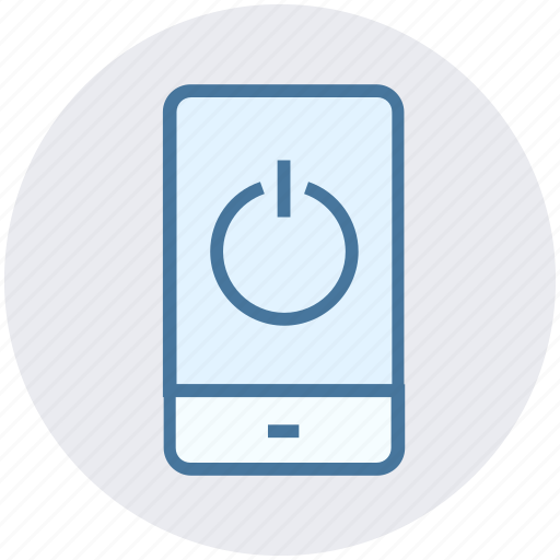 mobile, off, on, power, smartphone, switch, turn icon