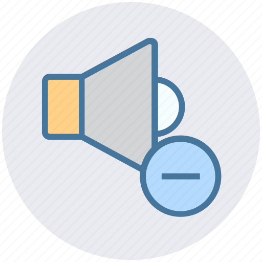 Change, down, minus, multimedia, music, speaker, volume icon - Download on Iconfinder