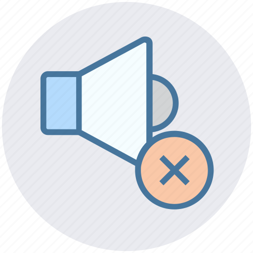 Audio, cross, multimedia, off, sound, speaker, volume icon - Download on Iconfinder