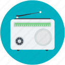 old radio, radio, radio antenna, radio set, transmission icon