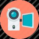 camcorder, camera, handy cam, video camera, video recording
