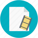 movie clip, movie collection, movie file, video clip, videos file icon
