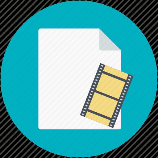 movie clip, movie collection, movie file, video clip, videos file icon