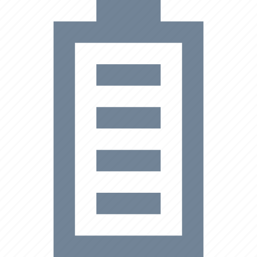 battery, full, media, multimedia, power icon