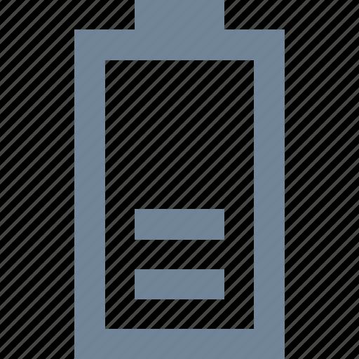 battery, half, low, media, multimedia, power icon