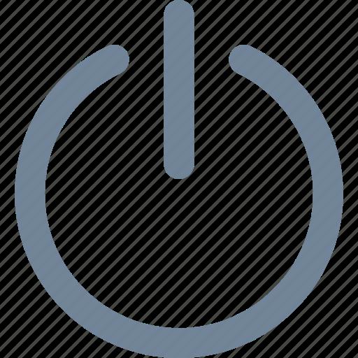 log off, media, multimedia, shutdown icon