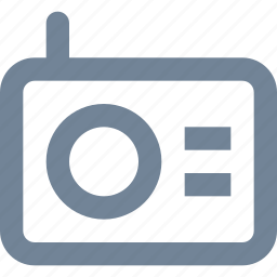 broadcast, line, media, multimedia, music, radio icon