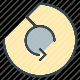 audio, movie, multimedia, music, reload, repeat, rotation icon