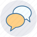 bubbles, chat, chatting, comment, conversion, discussion, talk icon