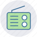 multimedia, radio, radio antenna, radio set, technology, transmission icon