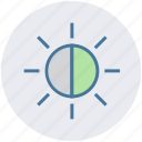 brightness, contrast, light, multimedia, resolution icon