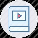 audio, book, e book, learning, media, multimedia, music icon