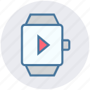 app, media, mobile, phone, smart watch, watch icon