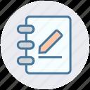 book, document, multimedia, paper, pen, pencil, write