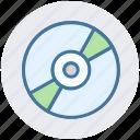 cd, compact disk, dj, dvd, media, multimedia icon