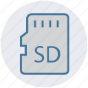 card, memory card, multimedia, sd, sd card, storage, technology icon