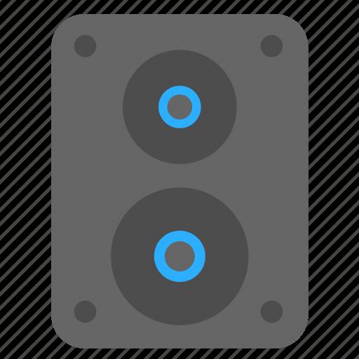 audio, multimedia, music, sound, speaker, speaker box icon