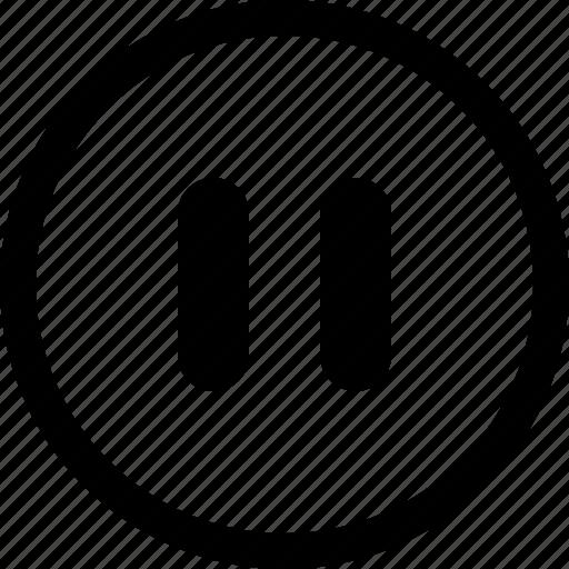 film, media, movie, multimedia, pause icon
