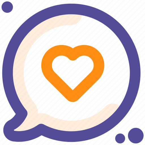 conversation, favorite, like, love, valentine icon