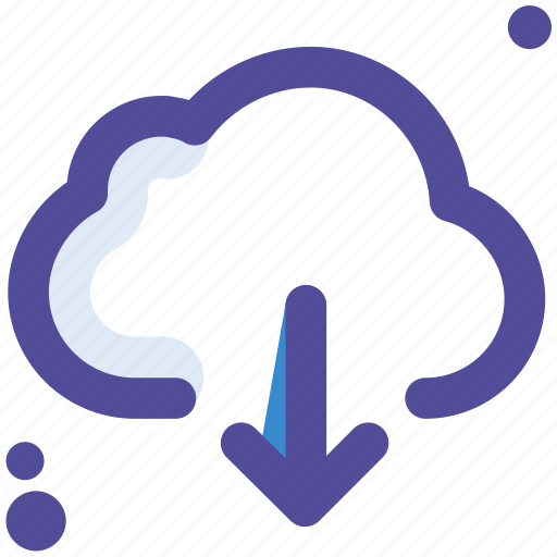 cloud, database, down, download, storage icon