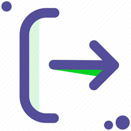 exit, log, login, logout, out, sign icon