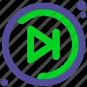 forward, move, next icon
