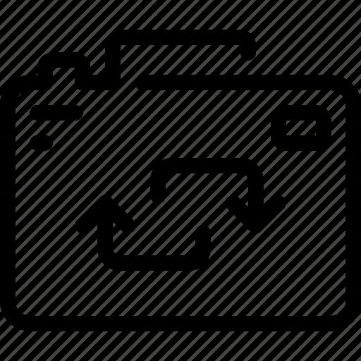 arrow, camera, device, digital, photography icon