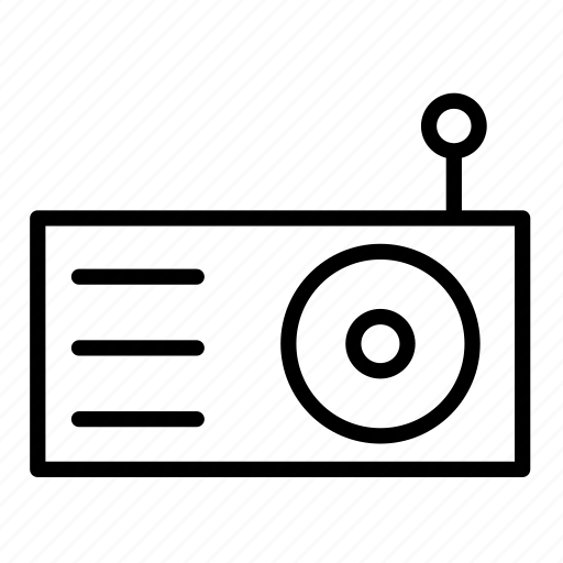 device, electronic, multimedia, music, radio, sound icon