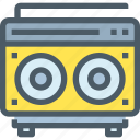 media, music, news, radio, song, speaker icon