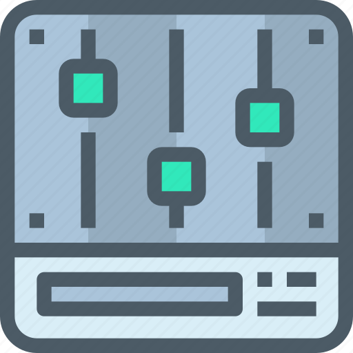 control, media, music, option, party icon
