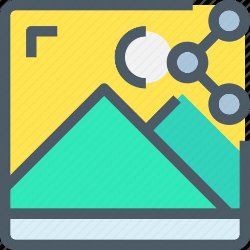 media, network, photo, share, sharing icon