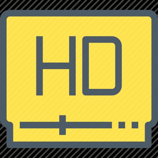 hd, media, movie, video icon